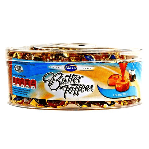 ARCOR BUTTER TOFFEES LECHE 400G