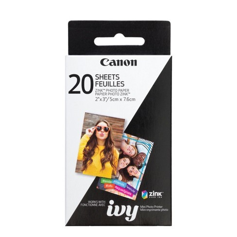 """CANON ZINK 2"""" X 3"""" PHOTO PAPER 20 SHEETS"""