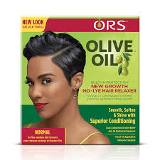 ORS Olive Oil Built-In Protection New Growth No-Lye Hair Relaxer System - Normal Strength (Pack of 6)