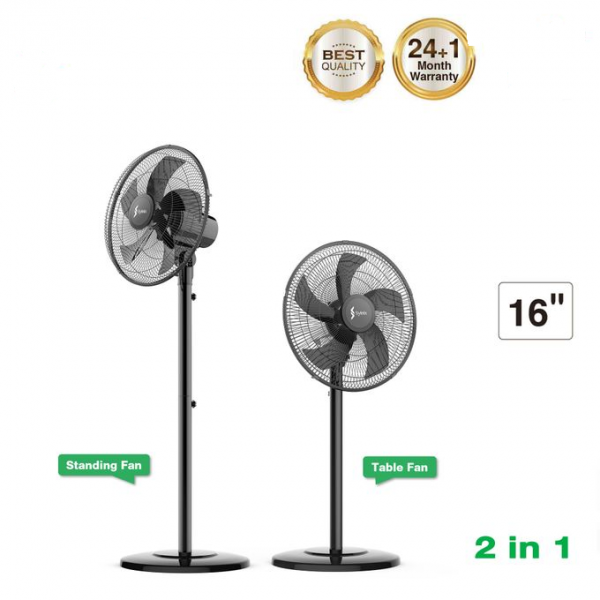 """SYINIX 16"""" 2 IN 1 STANDING & TABLE FAN 508"""