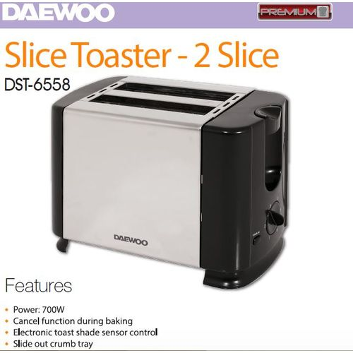 DAEWOO POP-UP TOASTER DST-6558 2SLICES 700W