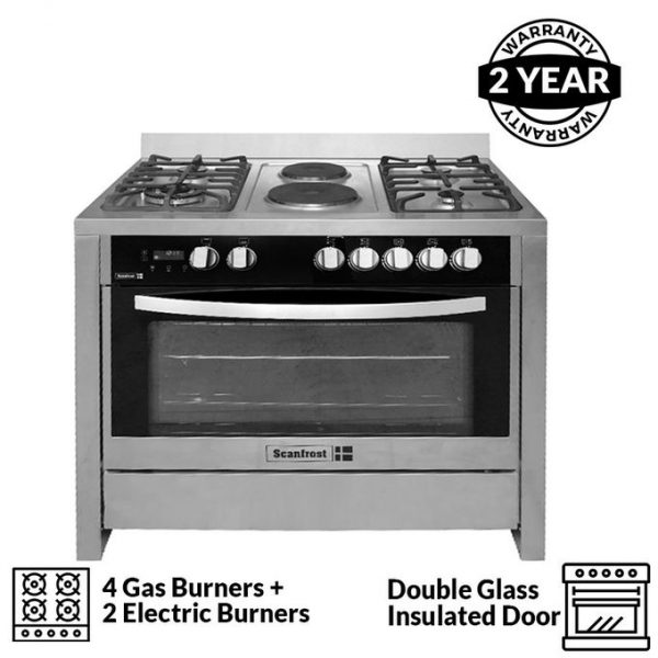 SCANFROST COOKER 9423 BLACK 4GAS+2ELEC