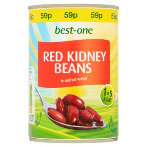 BEST-ONE RED KIDNEY BEANS IN SALTED WATER 400G