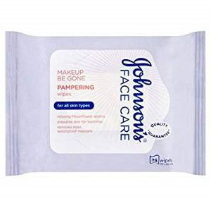 JOHNSON'S FACE CARE PAMPERING WIPES FOR ALL SKIN 25'S