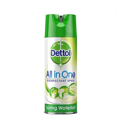 DETTOL ALL IN ONE DISINFECTANT SPRAY SPRING WATERFALL 400ML