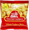 M&W GOURMET WHOLE CASHEW NUTS UNSALTED 50G SACHET