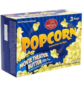 PROMOS MICROWAVE POPCORN BUTTER 3 BAGS  298G