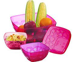 FLAIR FIESTA MULTIPURPOSE CONTAINERS SET OF 4 PCS 650/1100/3000/4000ML