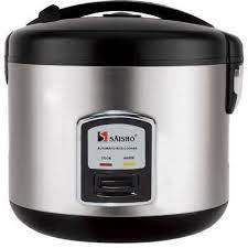 SAISHO RICE COOKER S406 WHITE/STAINLESS STEEL